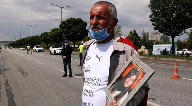 PKK'nın kaçırdığı kızını geri isteyen baba Ankara yürüyüşünde, Afyonkarahisar'dan geçti