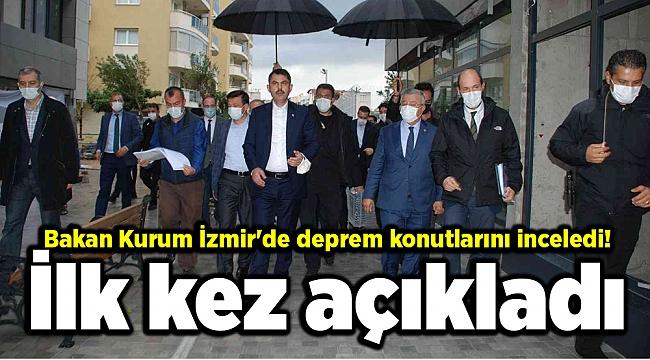 Bakan Kurum İzmir'de deprem konutlarını inceledi! İlk kez açıkladı
