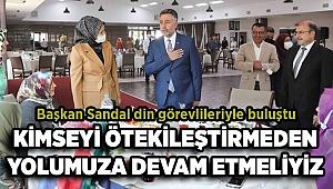 Başkan Sandal din görevlileriyle buluştu