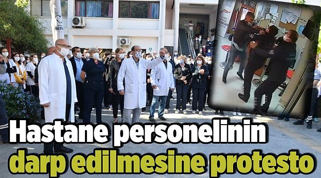 Hastane personelinin darp edilmesine protesto