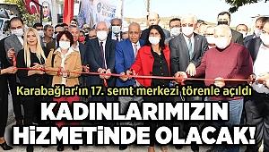Karabağlar'ın 17. semt merkezi törenle açıldı