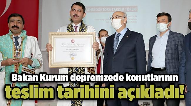 Murat Kurum: Konutlar, depremin yıl dönümünde teslim edilmeye başlanacak